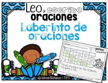 Leo y escribo oraciones - Laberinto de oraciones