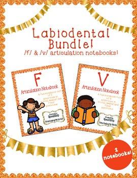 Labiodental Articulation Notebook Bundle!