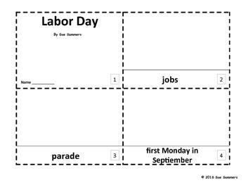 Labor Day 2 Emergent Reader Booklets
