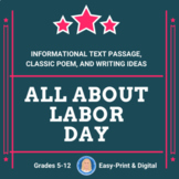 Labor Day: 2-page Informational Text Passage for High Interest Reading FREE