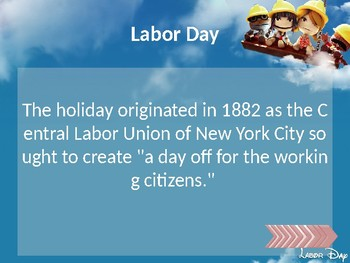 Labor Day 2018 PowerPoint