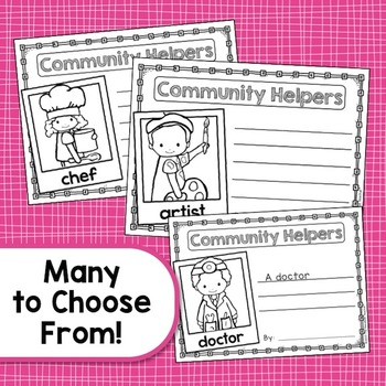 Labor Day - Community Helpers - Writing Activity
