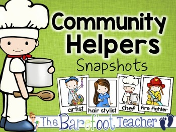 Labor Day - Community Helpers - Snapshots & Pocket Chart Pieces
