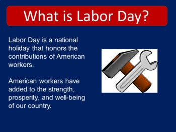 Labor Day PowerPoint | Labor Day Activity | Labor Day Lesson