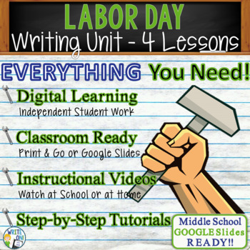 Labor Day Writing BUNDLE! - Argumentative, Persuasive, Exp
