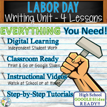 Labor Day Writing BUNDLE! - Argumentative, Persuasive, Expository, Narrative