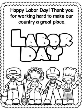 Labor Day Activities (No Prep worksheets for grades 1-3)