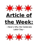 Labor Day- Article of the Week
