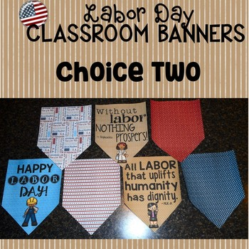 Labor Day Banner Set for the Classroom