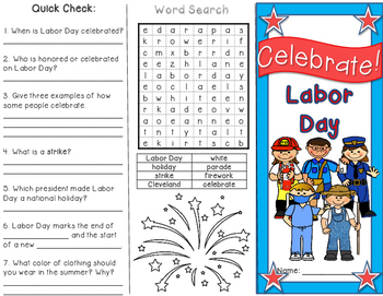 Labor Day Brochure and Activity