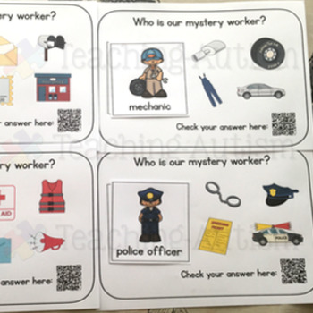 Labor Day Career Matching QR Code Cards