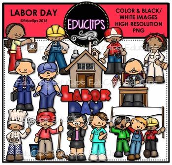 Labor Day Clip Art Bundle {Educlips Clipart}