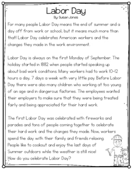 Labor Day Close Read and Poem