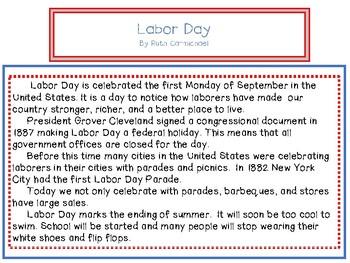Close Reading ~ Labor Day ~ Nonfiction
