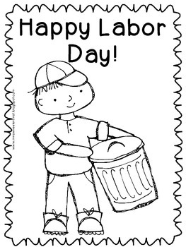 First Grade Social Studies: Labor Day Coloring Pages