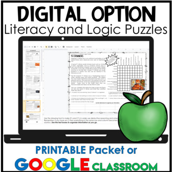 September Activities   Reading Passages and Logic Puzzles