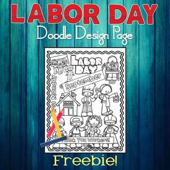 Labor Day Doodle Design Page Freebie