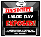 Free Labor Day Exposed! Lesson Plan with Graphic Organizer