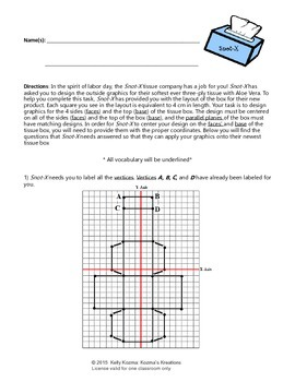 Labor Day Geometry Project: (Vertices, Parallel Planes, Midpoint, Distance)