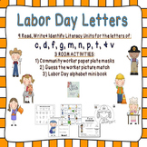 Labor Day Letters & Literacy Unit Featuring Community Workers