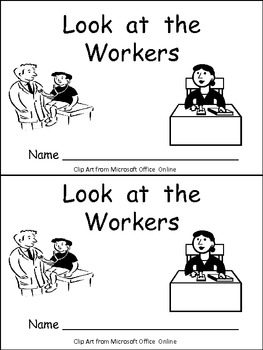 Labor Day- Look at the Workers Emergent Reader Kindergarten