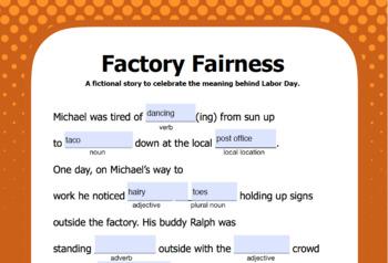 Labor Day Mad Lib (interactive PDF & Google Slide)