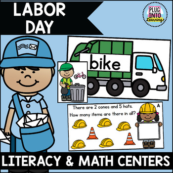 Labor Day Literacy and Math Centers