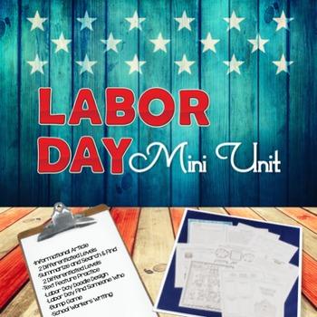 Labor Day Mini Unit