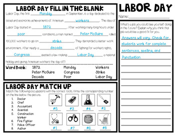 Labor Day Morning/Word Work