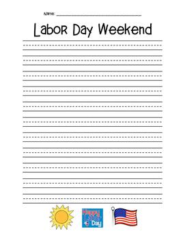 Labor Day Narrative Writing