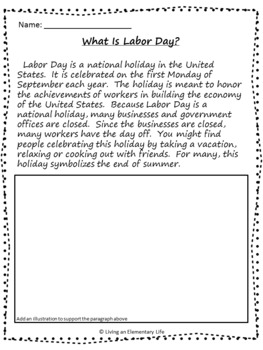 Labor Day No Prep Activities