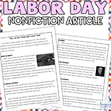 Labor Day Reading Activity