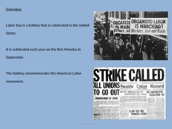 Labor Day - Power Point - History Facts Information Pictures Pullman Strike