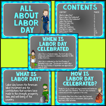 Labor Day Powerpoint Editable All About Labor Day Facts With Quiz Included