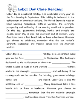 Labor Day Printables
