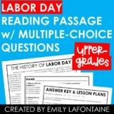 Labor Day Reading Comprehension Passage