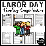 Labor Day Reading Comprehension Worksheet, September, Back to School, DBQ