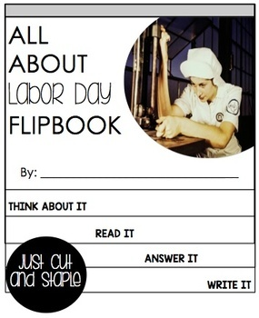 Labor Day Reading Passage and Flip Book