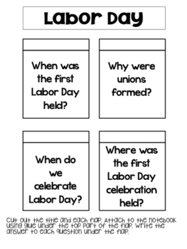 Labor Day Reading Passages and Interactive Notebook