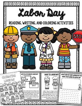 Labor Day Reading, Writing and Coloring Activities