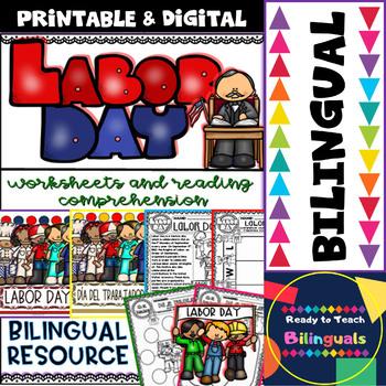 Labor Day - Social Studies Centers - Bilingual Set