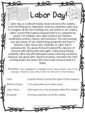 Labor Day Social Studies Holiday America USA union