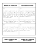 Labor Day Timeline Cards