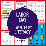 Labor Day Math & Literacy National Holidays, Games + Back to School Activities