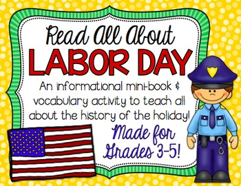 Labor Day Vocabulary Mini Book for BIG KIDS