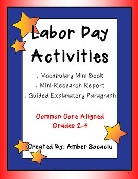 Labor Day Vocabulary and Writing Activities with a Mini-Re