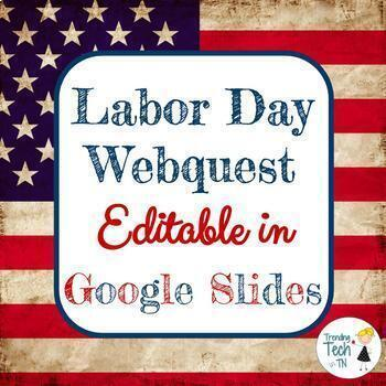 Labor Day Webquest and Flyer Design - Editable in Google Slides!