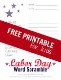 Labor Day Word Scramble