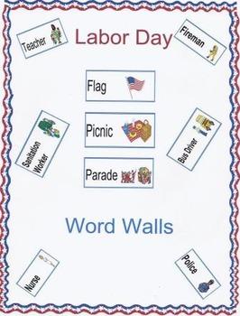 Labor Day Word Walls
