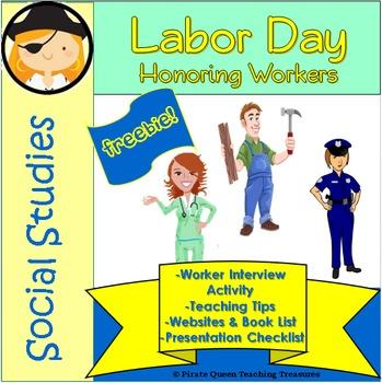 Labor Day FREEBIE—Worker Interview Activity